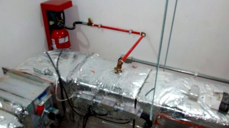 Manutenção sistema fixo co2