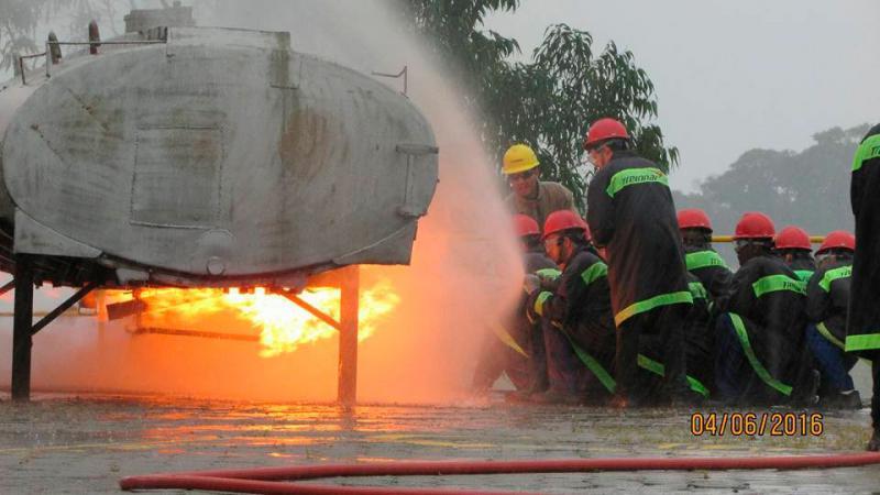 Treinamento de emergência química