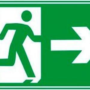 Placa de sinalização saída